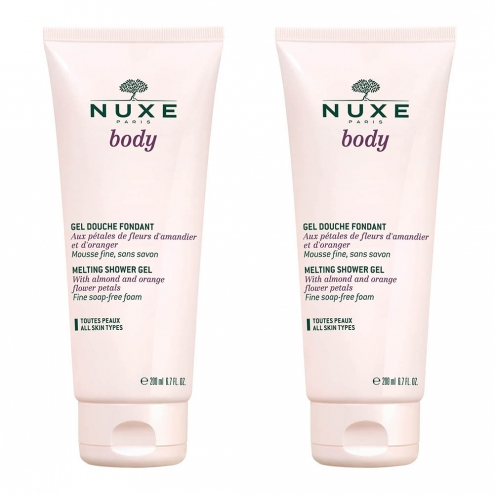 NUXE BODY GEL DOUCHE FONDANT 2X200ML