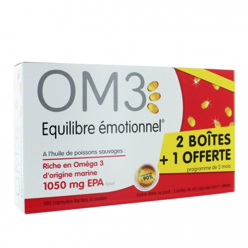 OM3 OMEGA 3 EQUILIBRE EMOTIONNEL 180 CAPSULES