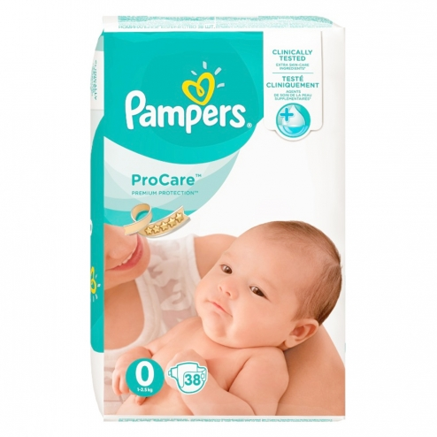Pampers procare couches taille 0 1 2 5 kg 38 unites - Couches pampers taille 1 ...