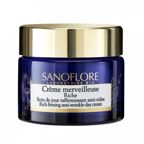 sanoflore creme merveilleuse riche soin jour bio 50ml. Black Bedroom Furniture Sets. Home Design Ideas
