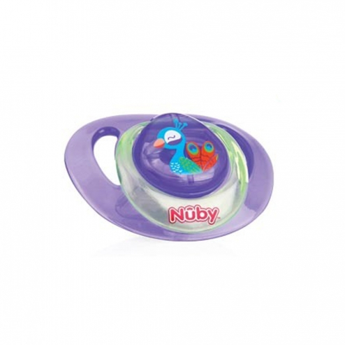 SUCETTE ORTHODONTIQUE 0-6 MOIS ANIMAL NUBY - PAON