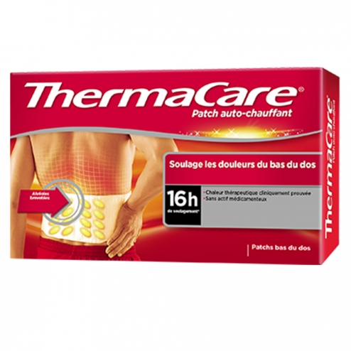 THERMACARE PATCH AUTO-CHAUFFANT DOS X4
