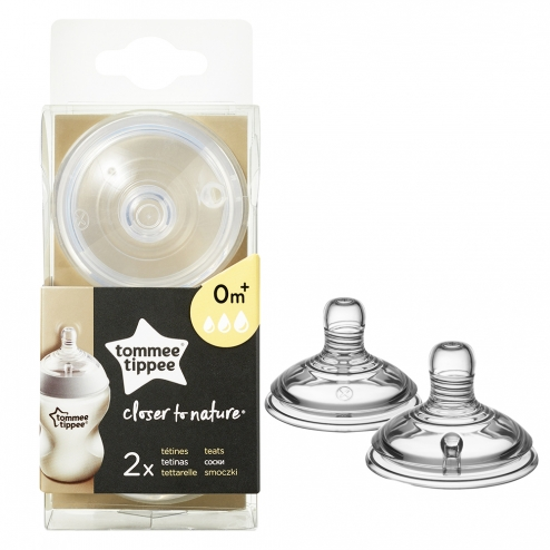 TOMMEE TIPPEE CLOSER TO NATURE TETINES DEBIT VARIABLE DES LA NAISSANCE X2