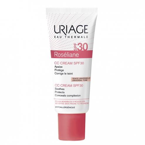 URIAGE ROSELIANE CC CREAM SPF30 PEAUX SENSIBLES A ROUGEURS 40ML