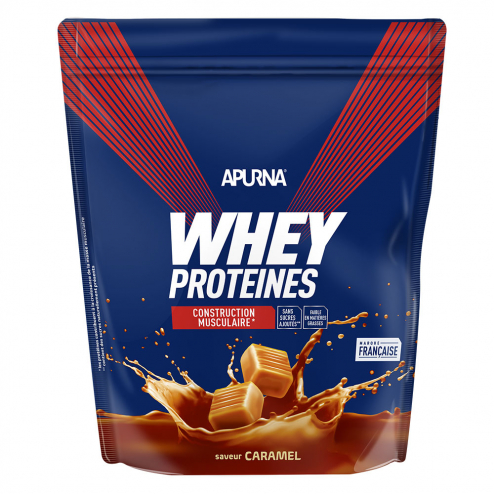 Whey Proteines Construction Musculaire Doypack 750g Apurna- Caramel