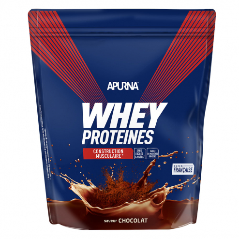 Whey Proteines Construction Musculaire Doypack 750g Apurna- Chocolat