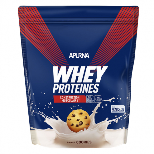 Whey Proteines Construction Musculaire Doypack 750g Apurna- Cookies