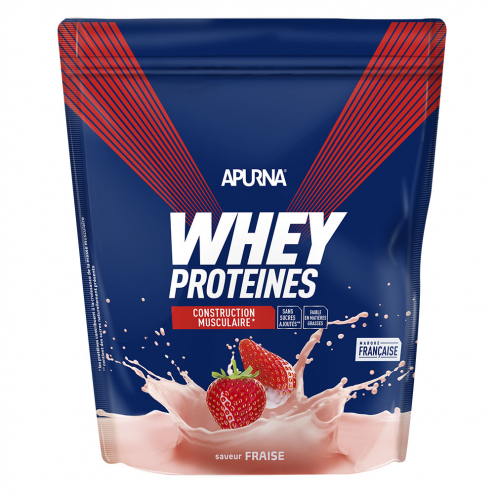 Whey Proteines Construction Musculaire Doypack 750g Apurna- Fraise