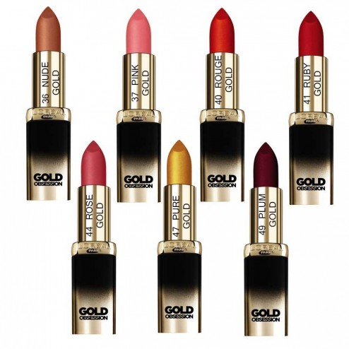 loreal color riche rouge a levres collection gold obsession - Rouge A Levre L Oreal Color Riche
