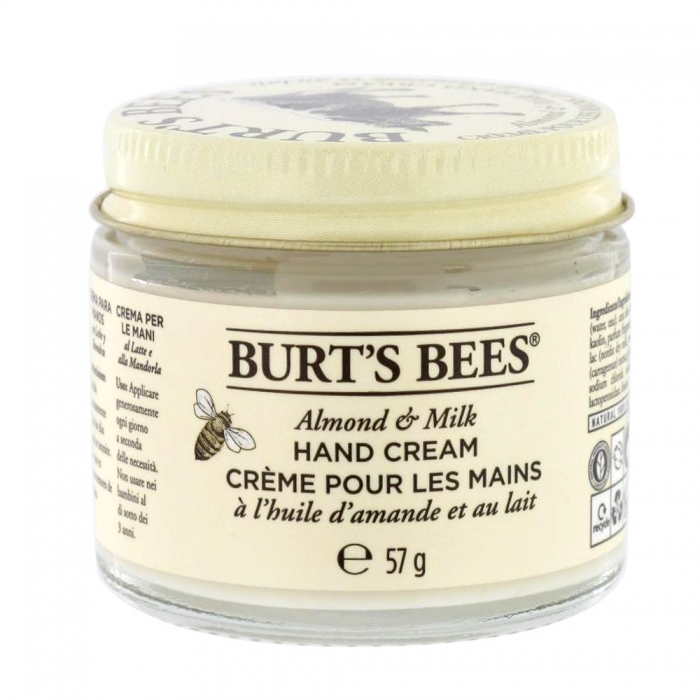 burt 39 s bees creme pour les mains a l 39 huile d 39 amande et au lait 57g. Black Bedroom Furniture Sets. Home Design Ideas