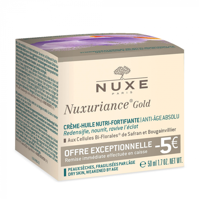 Offre Creme-huile Nutri-fortifiante 50ml Nuxuriance Gold Nuxe