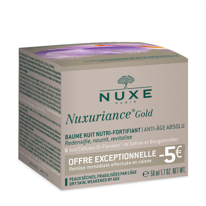 Offre Baume Nuit Nutri-fortifiant Anti-age Absolu 50ml Nuxuriance Gold Nuxe
