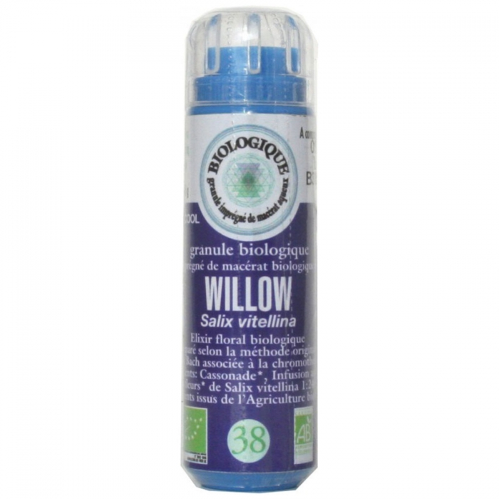 BACH BIO N°38. WILLOW GRANULES 6.3G