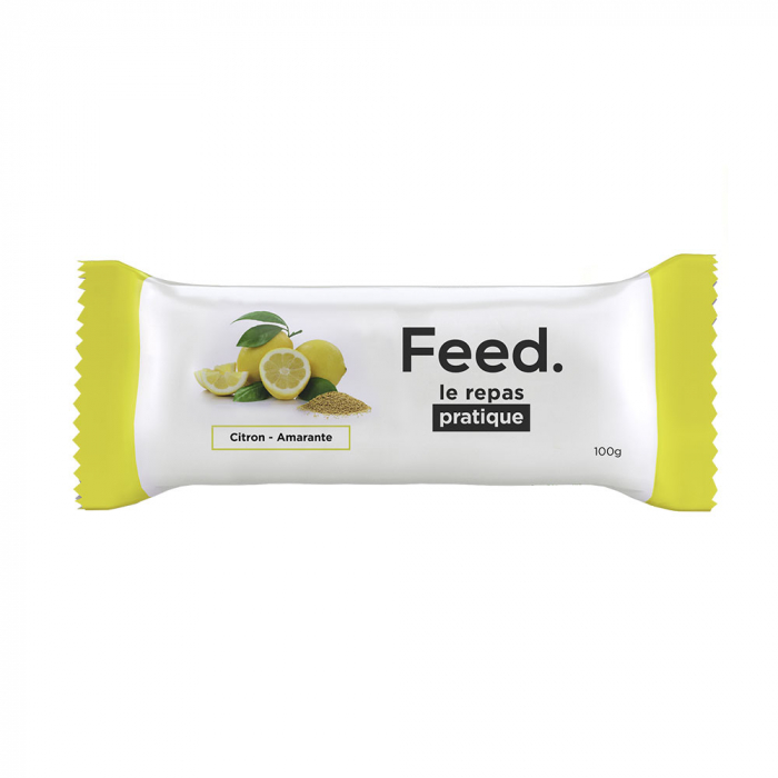 BARRE REPAS COMPLET 100G FEED - CITRON AMARANTE