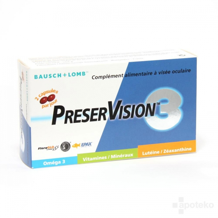 BAUSCH & LOMB PRESERVISION 3 - 60 CAPSULES