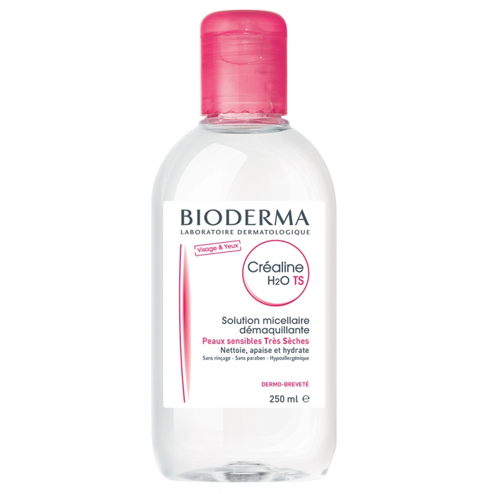 BIODERMA CREALINE TS H20 SOLUTION MICELLAIRE PEAUX SENSIBLES TRES SECHES 250ML