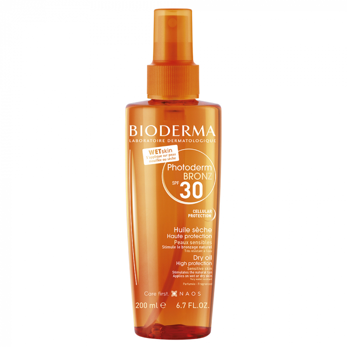 Bronz Huile Seche Haute Protection Spf30 200ml Photoderm Bioderma