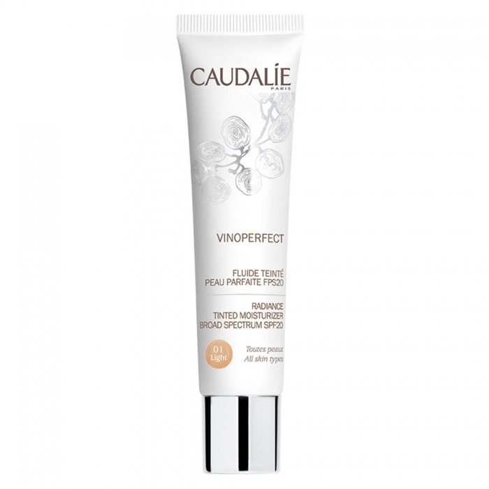 CAUDALIE VINOPERFECT FLUIDE TEINT SPF20 40ML - 01 LIGHT