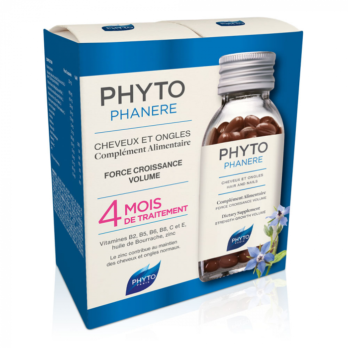 CHEVEUX ET ONGLES 2X120 CAPSULES PHYTOPHANERE PHYTO