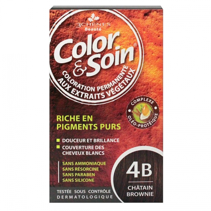 COLOR SOIN COLORATION PERMANENTE - 4 B CHATAIN BROWNIE