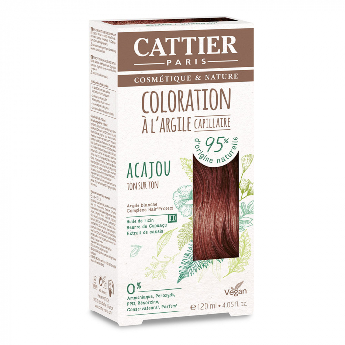 COLORATION A L'ARGILE CAPILLAIRE 120ML CATTIER-ACAJOU