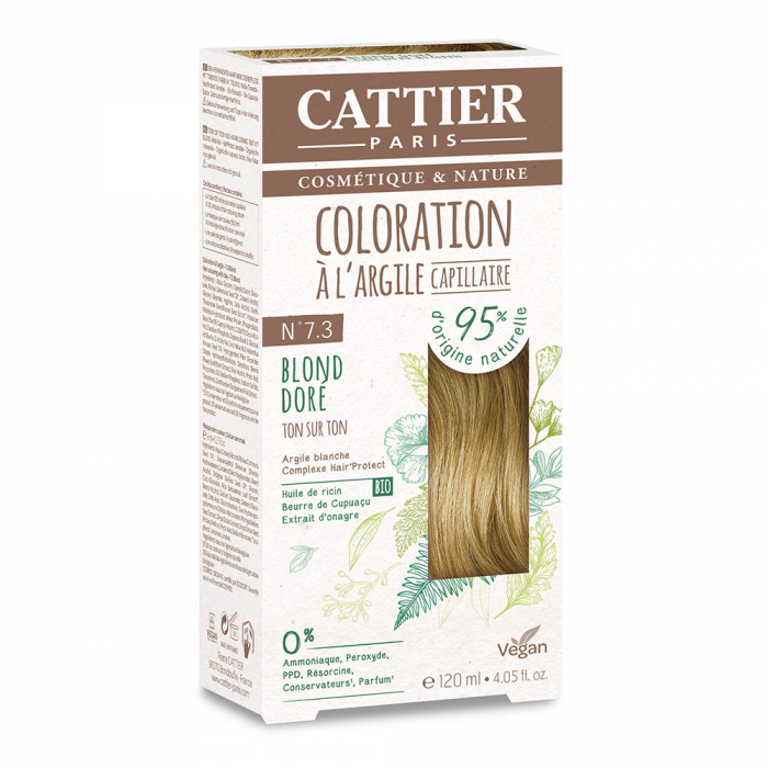 COLORATION A L'ARGILE CAPILLAIRE 120ML CATTIER-N7.3 BLOND DORE