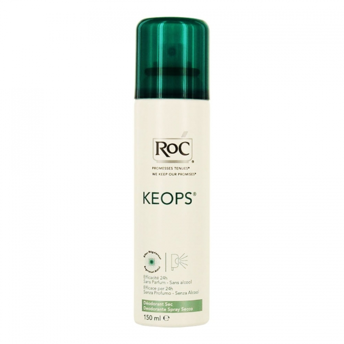 DEODORANT SPRAY SEC TRANSPIRATION ABONDANTE150ML KEOPS ROC