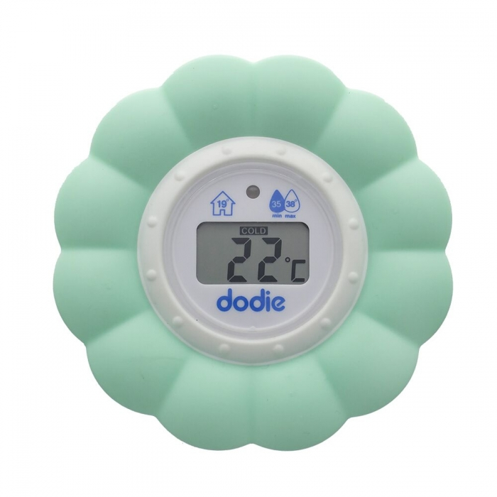 Dodie thermometre 2 en 1 bain et chambre bebe for Thermometre de chambre bebe