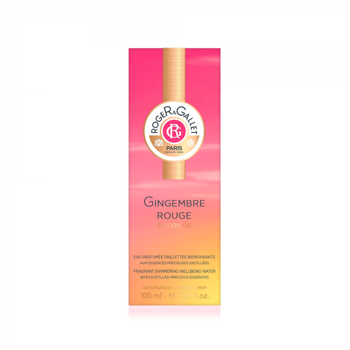 Eau Parfumee paillettee 100ml Gingembre Rouge Edition or Roger & Gallet