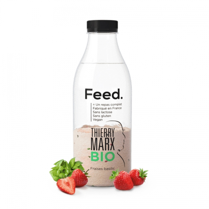 FEED BOUTEILLE REPAS COMPLET BIO BY THIERRY MARX 200G FRAISES BASILIC