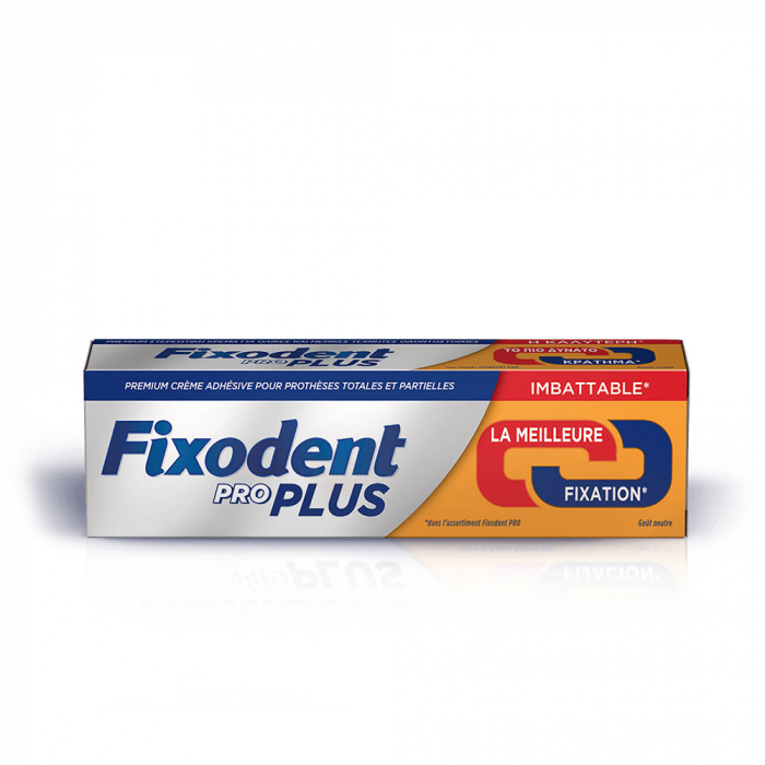 FIXODENT PRO PLUS DUO ACTION CREME ADHESIVE POUR PROTHESES DENTAIRES 60G