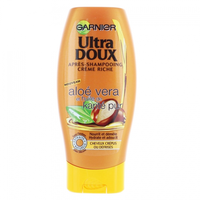 garnier ultra doux apres shampooing aloe vera karite cheveux crepus 200ml. Black Bedroom Furniture Sets. Home Design Ideas