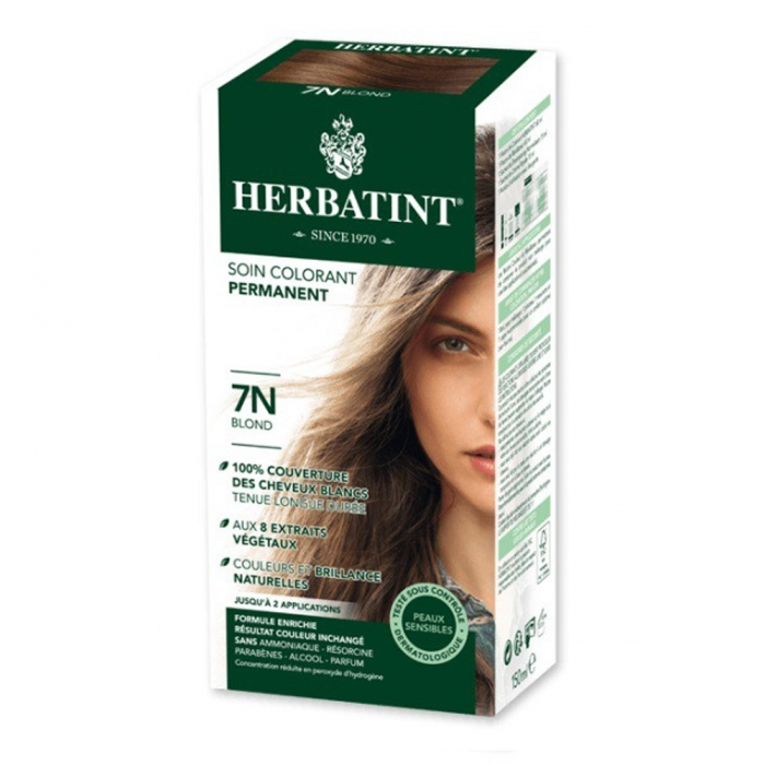 HERBATINT SOIN COLORANT PERMANENT AUX EXTRAITS VEGETAUX 150ML - 7N BLOND