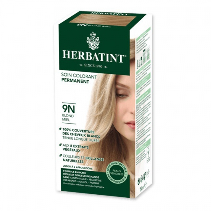 HERBATINT SOIN COLORANT PERMANENT AUX EXTRAITS VEGETAUX 150ML - 9N BLOND MIEL