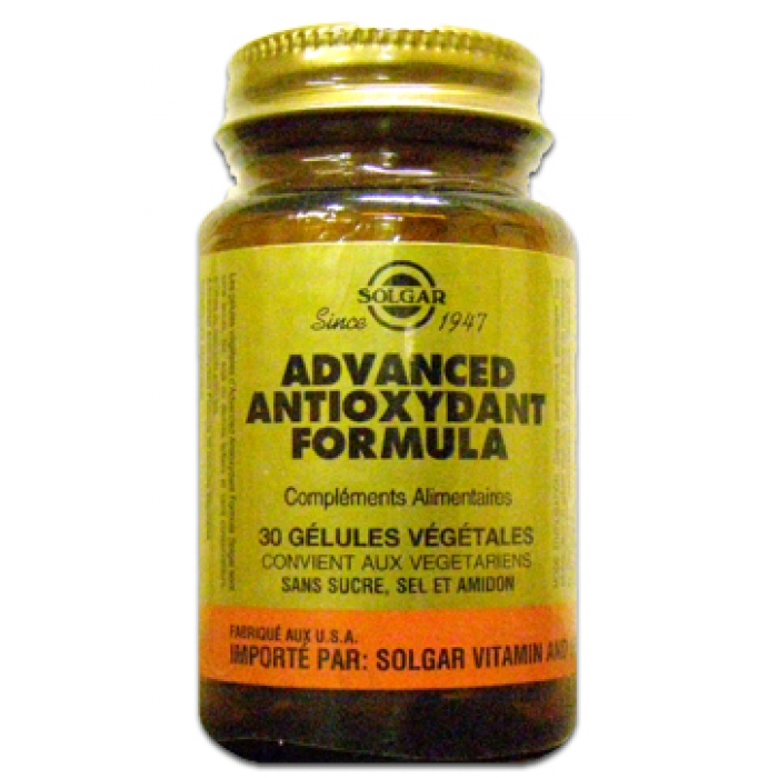 SOLGAR ADVANCED ANTIOXYDANT 30 GELULES VEGETALES