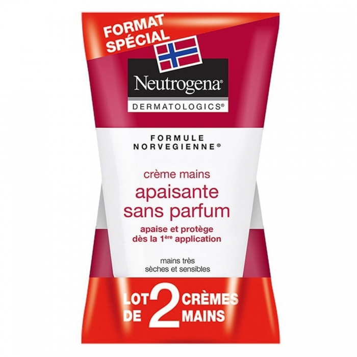 NEUTROGENA DUO CRÈME MAINS CONCENTREE SANS PARFUM 2X50ML