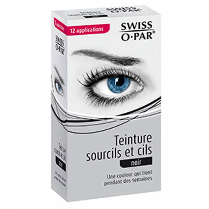 SWISS O PAR TEINTURE SOURCILS ET CILS 12 APPLICATIONS  - NOIR