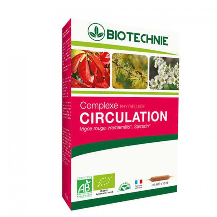 PHYTAFLUIDE CIRCULATION BIO 20 AMPOULES BIOTECHNIE