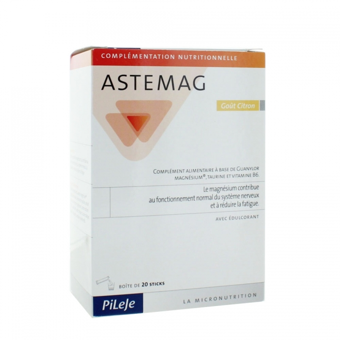 PILEJE ASTEMAG COMPLEMENT ALIMENTAIRE STICKS 20x4G