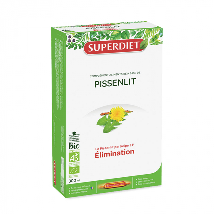PISSENLIT ELIMINATION BIO 20 AMPOULES SUPERDIET