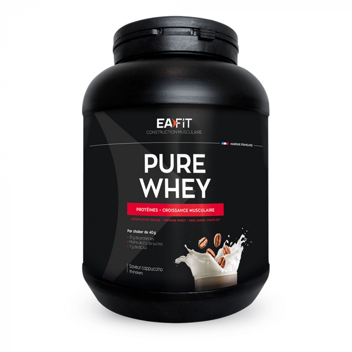 Pure Whey Croissance Musculaire Maxi 750g Eafit - Cappuccino