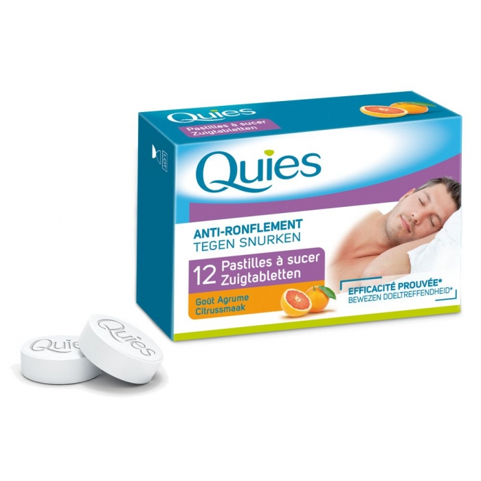 QUIES ANTI-RONFLEMENT PASTILLES A SUCER AGRUME X12