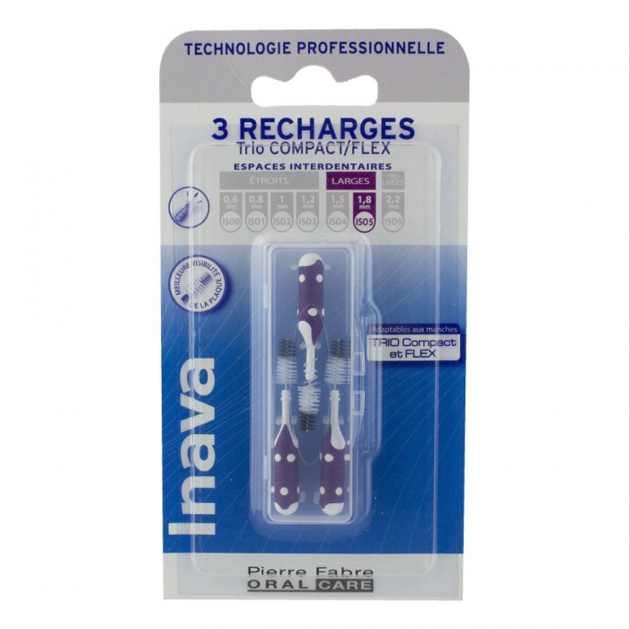 RECHARGES BROSSETTES INTERDENTAIRES VIOLET 1.8MM X3 INAVA