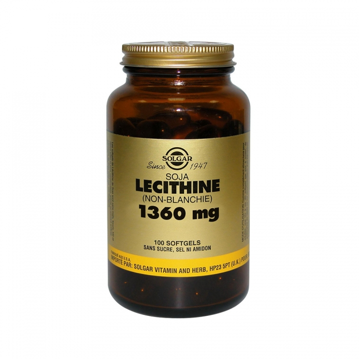 SOLGAR LECITHINE SOJA (NON BLANCHIE) 1360MG 100 SOFTGELS