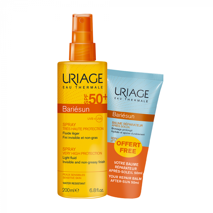 SPRAY SPF50+ 200ML + BAUME REPARATEUR 50ML BARIESUN URIAGE