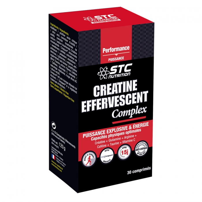STC NUTRITION CREATINE EFFERVESCENT COMPLEX 30 COMPRIMES