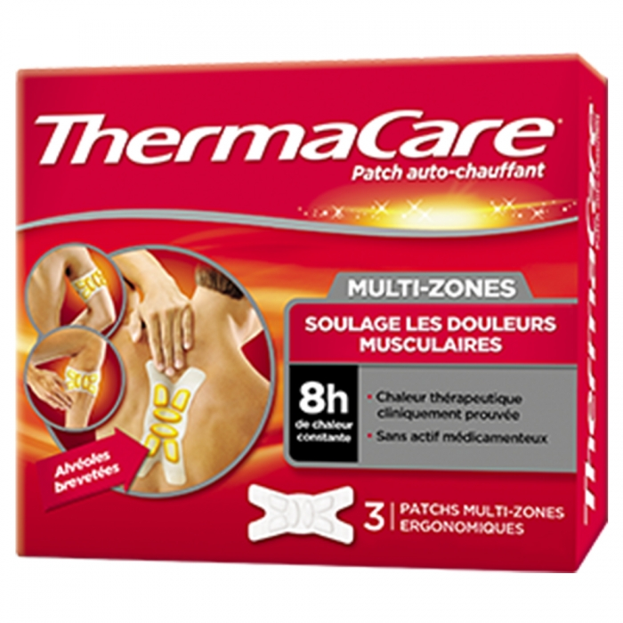 THERMACARE PATCHS AUTO-CHAUFFANT MULTI-ZONES X3