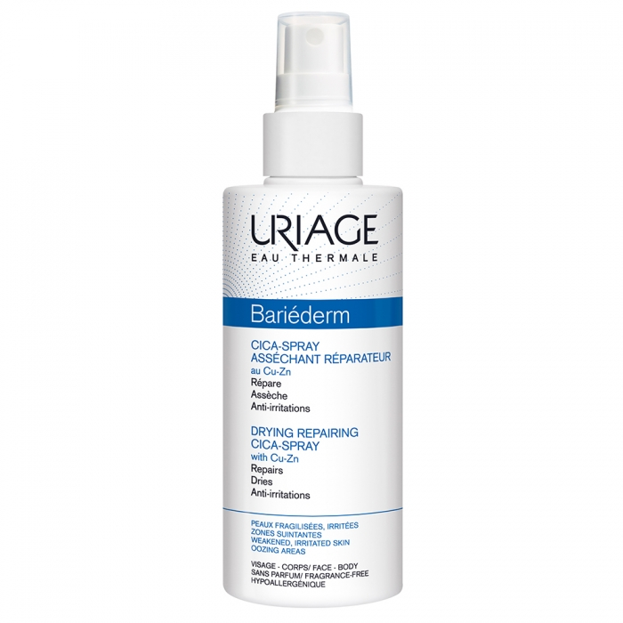URIAGE BARIEDERM CICA-SPRAY ASSECHANT REPARATEUR PEAUX FRAGILISEES ET IRRITEES 100ML