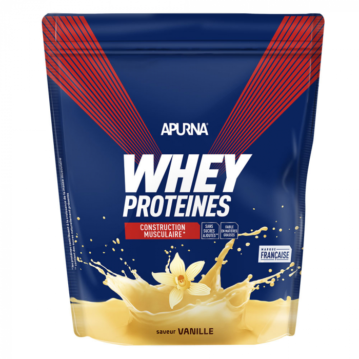 Whey Proteines Construction Musculaire Doypack 720g Apurna- Vanille