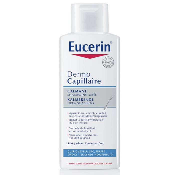 eucerin dermo capillaire calmant shampoing uree 250ml easyparapharmacie. Black Bedroom Furniture Sets. Home Design Ideas